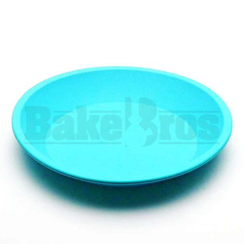 """SILICONE TRAY ROUND NON STICK OIL SLICK TRAY 8"""" SKY BLUE Pack of 1 8"""" DIAMETER"""