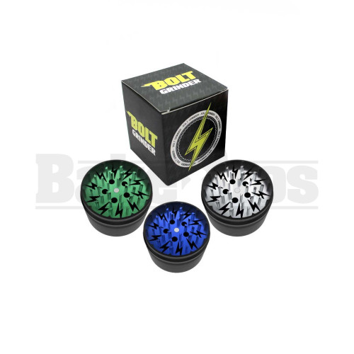 """BOLT GRINDER CLEAR TOP 4 PIECE 2.4"""" ASSORTED Pack of 1"""
