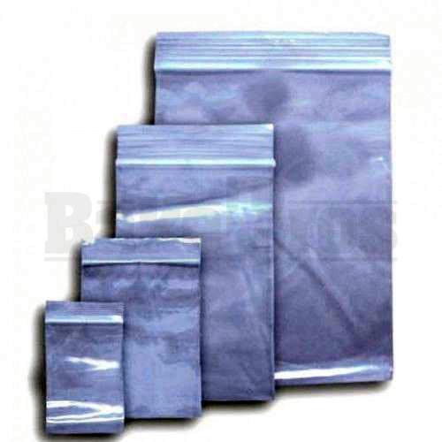 "APPLE BAGS BAGGIES 5858 5/8"" x 5/8"" CLEAR Pack of 1 100 Per Pack"