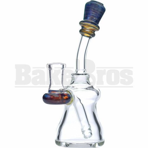 """WP BENT NECK BELL W/ DIFFUSED PERC 6"""" AMBER PURPLE FEMALE 14MM"""