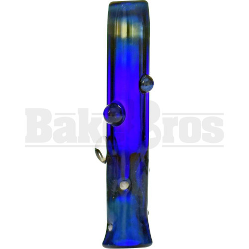 "SAN DIEGO BORO HAND PIPE GLASS CHILLUM SPACE GALAXY MILKY WAY PIPE 2.5"" BLUE"