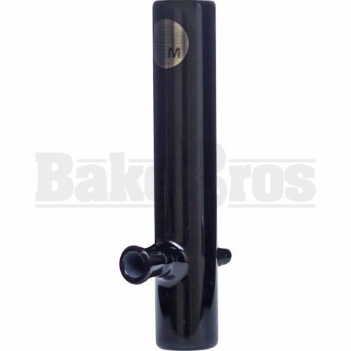 "MAVERICK GLASS HAND PIPE 14MM FML STEAM ROLLER 1.5"" DIAM 8"" BLACK"