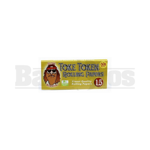"""TOKE TOKEN SLOW BURNING PAPERS 1.5"""" SIZE 32 LEAVES UNFLAVORED Pack of 12"""