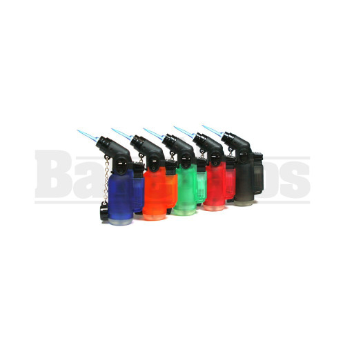 """EAGLE TORCH 45* ANGLE SINGLE FLAME TORCH PT116A ASSORTED COLORS Pack of 1 3"""""""