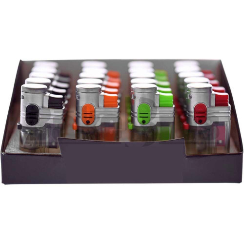 """POCKET SIZE 2X FLAME TORCH TRANSLUCENT 20 PER BOX ASSORTED COLORS Pack of 1 3"""""""