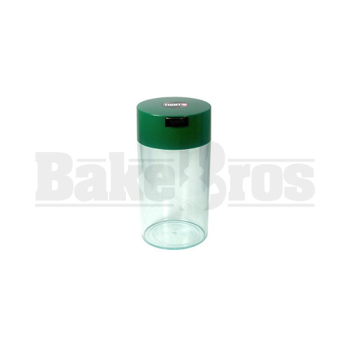 TIGHTVAC 12 OZ MEDICINE CONTAINER AIR TIGHT VACUUM SEAL GREEN / CLEAR Pack of 1