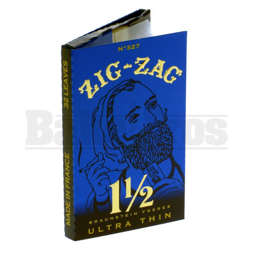 """ZIG ZAG ROLLING PAPERS ULTRA THIN 1 1/2"""" 32 LEAVES UNFLAVORED Pack of 6"""