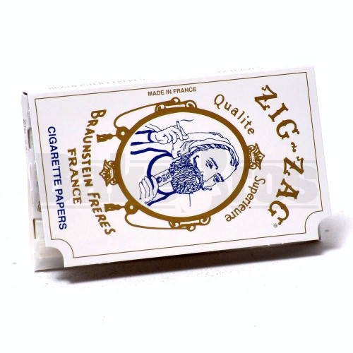 ZIG ZAG ROLLING PAPERS WHITE SW 32 LEAVES UNFLAVORED Pack of 6