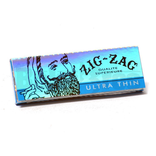 """ZIG ZAG ULTRA THIN NATURAL GUM ARABIC 1 1/4"""" 32 LEAVES UNFLAVORED Pack of 6"""