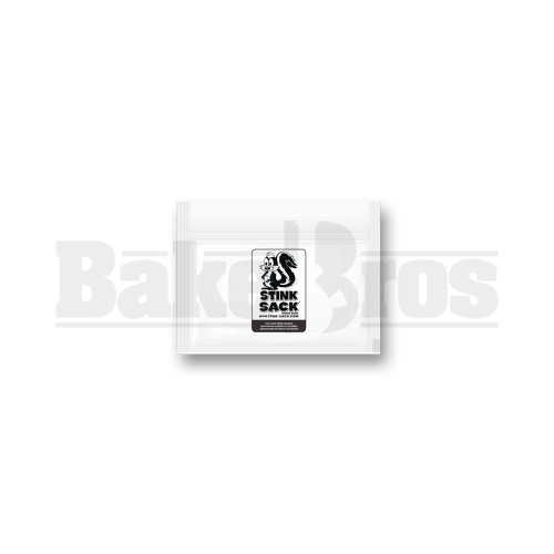 """STINK SACK SMELL PROOF PLASTIC BAG 4"""" x 6"""" CLEAR Pack of 1 10 Per Pack"""