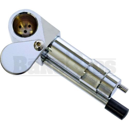 METAL CARBURETOR HAND PIPE W/ SWIVAL CAP & POKER METALLIC