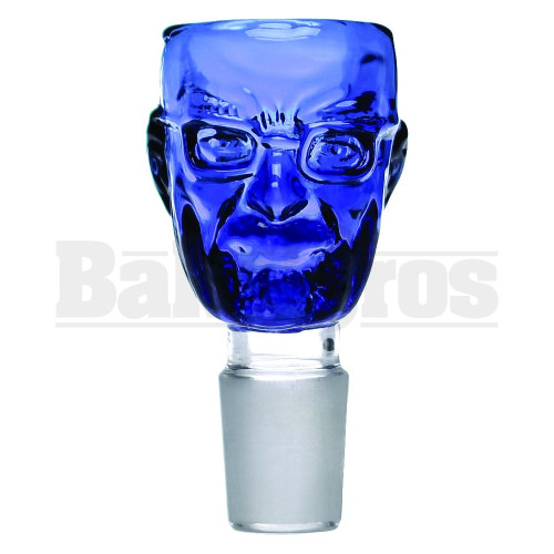 BOWL ANGRY FACE MAN BLUE 18MM