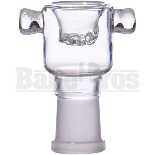 BOWL CYLINDER W/ BOLT ASTERIK BUILT-IN GLASS SCREEN CLEAR 14MM