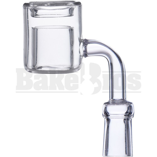 10MM NAIL QUARTZ DOUBLE CUP THERMAL BANGER 90* CLEAR FEMALE