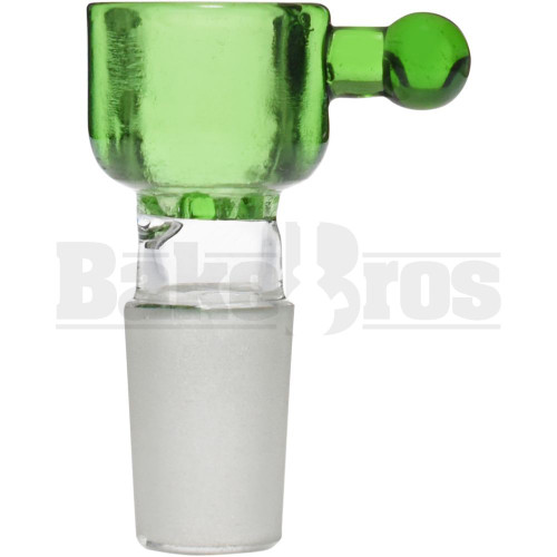 CYLINDER THICK WALL W/BULB HANDLE ASTERIK SCREEN GREEN 18MM