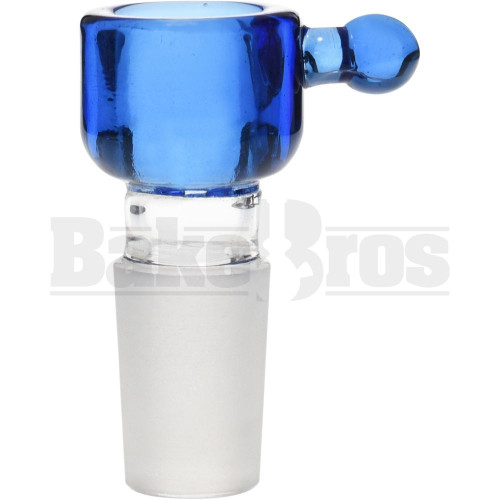 CYLINDER THICK WALL W/BULB HANDLE ASTERIK SCREEN TRANSPARENT BLUE 18MM