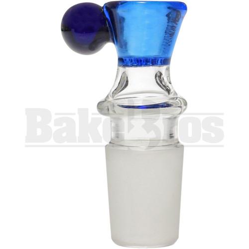 BOWL FUNNEL WIG WAG DESIGN W/ BULLHORN HANDLE BLUE 18MM