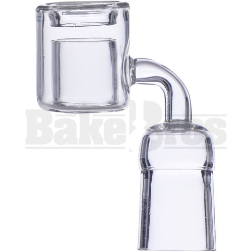 18MM NAIL QUARTZ DOUBLE CUP THERMAL BANGER 90* CLEAR FEMALE