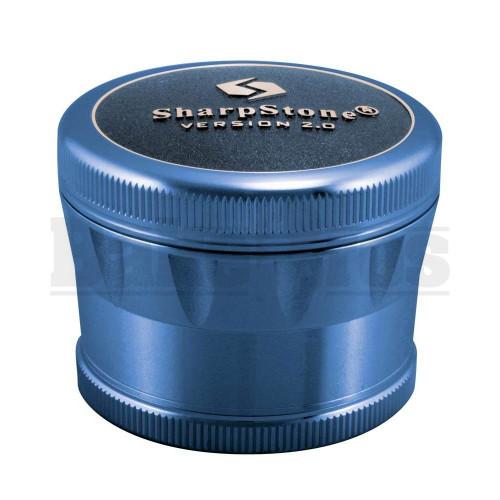"""SHARPSTONE 2.0 HARD TOP GRINDER 4 PIECE 2.5"""" BLUE Pack of 1"""