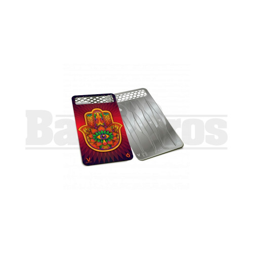 """V SYNDICATE DABIT CARD GRINDER & DAB TOOL W/ SILICONE CASE HAMSA Pack of 1 3"""" LENGTH"""