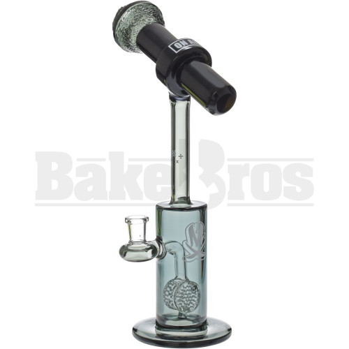"MATHEMATIX GLASS MICROPHONE TO CAN W/ HONEYCOMB BARREL PERC 13"" EMERALD FEMALE 14MM"