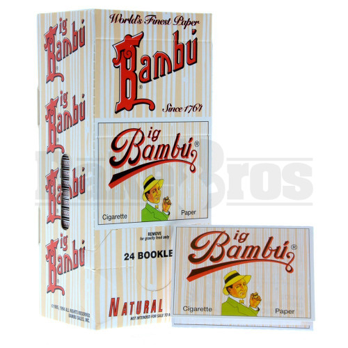BAMBU PURE HEMP CIGARETTE PAPER UNFLAVORED Pack of 24