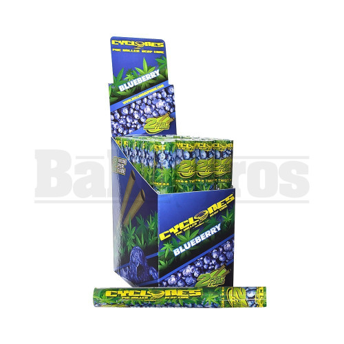 CYCLONES PRE ROLLED HEMP CONES 2 PER TUBE BLUEBERRY Pack of 24