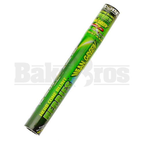 CYCLONES HERBIES SAGE MEAN GREEN PRE ROLLED CONES 1 PER TUBE WITH 1 REUSABLE DANK7 TIP NATURAL Pack of 1
