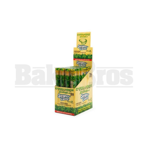CYCLONES PRE ROLLED HEMP CONE XTRASLO DANK7 TIP SUGAR CANE Pack of 24