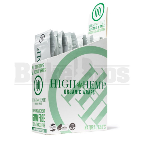 HIGH HEMP ORGANIC WRAPS 2 WRAPS WITH 2 FILTERS ORIGINAL Pack of 25