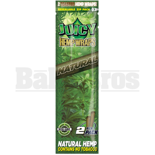 JUICY JAY'S HEMP WRAPS 2 DOUBLE WRAPS NATURAL Pack of 1