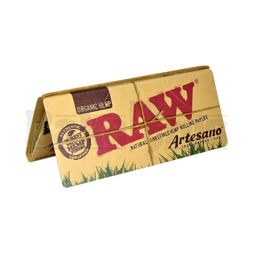 RAW ORGANIC HEMP ROLLING PAPERS ARTESANO 1 1/4 32 LEAVES UNFLAVORED Pack of 1