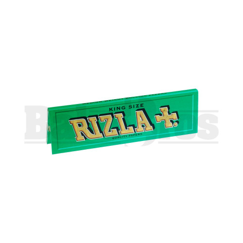 RIZLA GREEN KING SIZE ROLLING PAPER MEDIUM THIN 32 LEAVES UNFLAVORED Pack of 1
