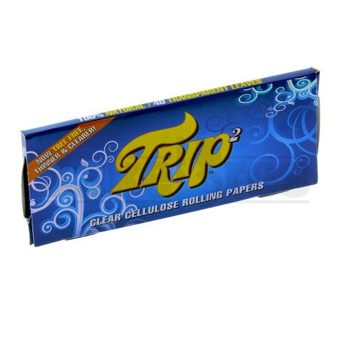 TRIP2 CLEAR CIGARETTE PAPERS KING SIZE 50 LEAVES UNFLAVORED Pack of 1