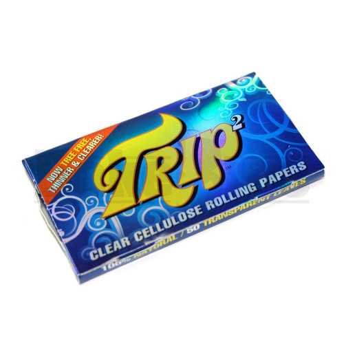 TRIP2 CLEAR CIGARETTE PAPERS 1 1/4 50 LEAVES UNFLAVORED Pack of 1