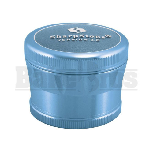 "SHARPSTONE 2.0 HARD TOP GRINDER 4 PIECE 2.2"" BLUE Pack of 1"