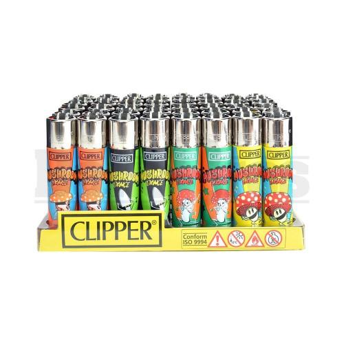 """CLIPPER LIGHTER 3"""" MUSHROOM DANCE ASSORTED Pack of 48"""