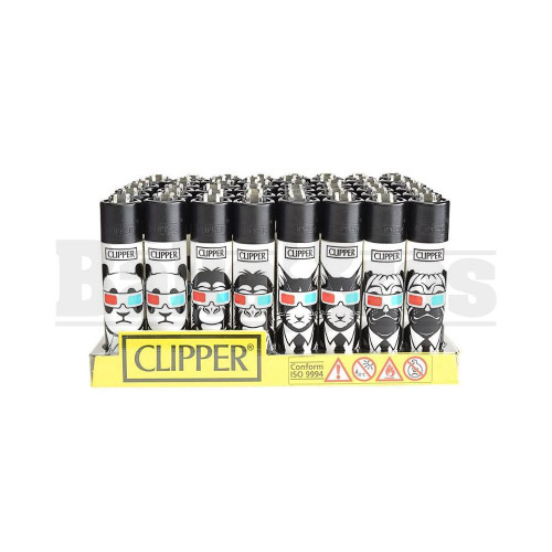 """CLIPPER LIGHTER 3"""" 3D ANIMAL ASSORTED Pack of 48"""