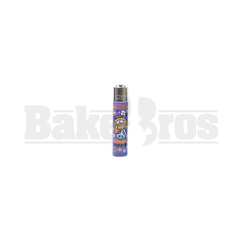 """CLIPPER LIGHTER 3"""" HIPPIE ASSORTED Pack of 1"""