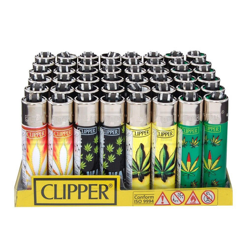 """CLIPPER LIGHTER 3"""" HOJAS MARIA ASSORTED Pack of 48"""