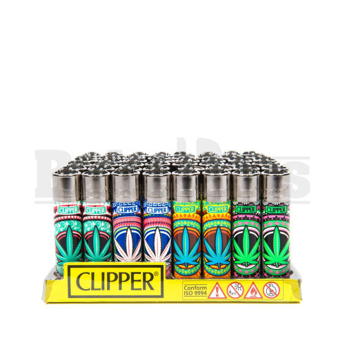 """CLIPPER LIGHTER 3"""" ORIENTAL LEAVES ASSORTED Pack of 48"""