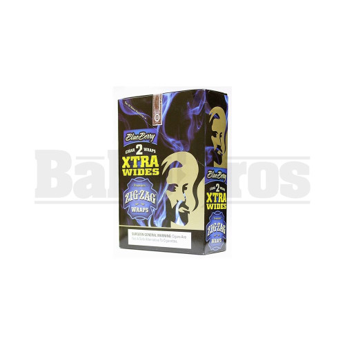 ZIG ZAG CIGAR WRAPS 2 PER PACK XTRA WIDES BLUEBERRY Pack of 25