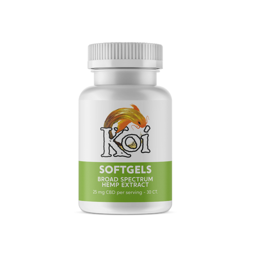 Koi Hemp Extract CBD Softgels | Regular
