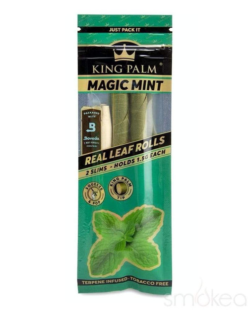 King Palm Wraps Slim 2 per Pack Magic Mint Pack of 1