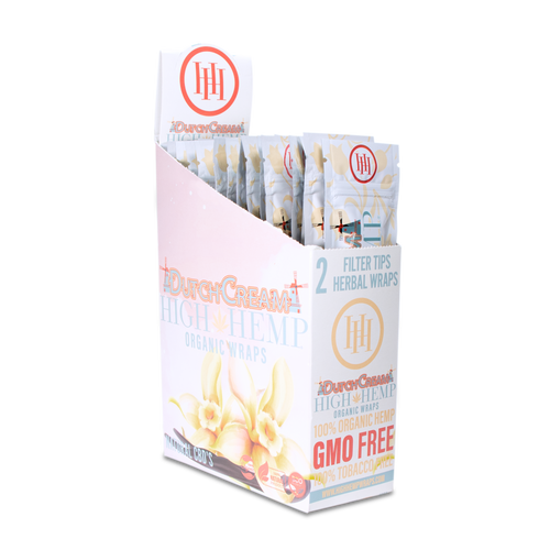 High Hemp Organic Wraps 2 Wraps With 2 Filters Dutch Cream Pack Of 25