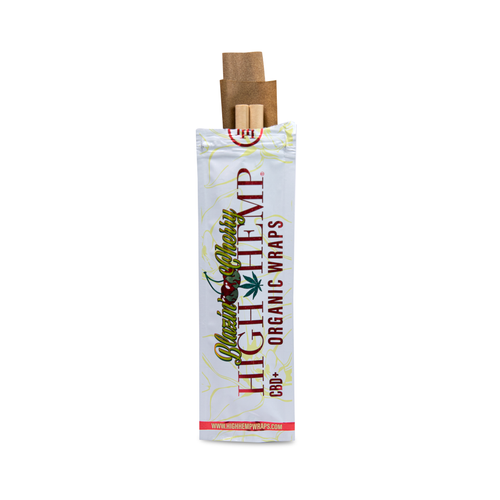 High Hemp Organic Wraps 2 Wraps With 2 Filters Blazin' Cherry Pack Of 25