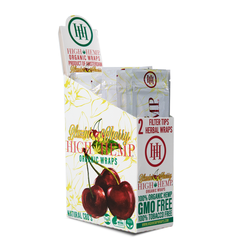 High Hemp Organic Wraps 2 Wraps With 2 Filters Blazin' Cherry Pack Of 25