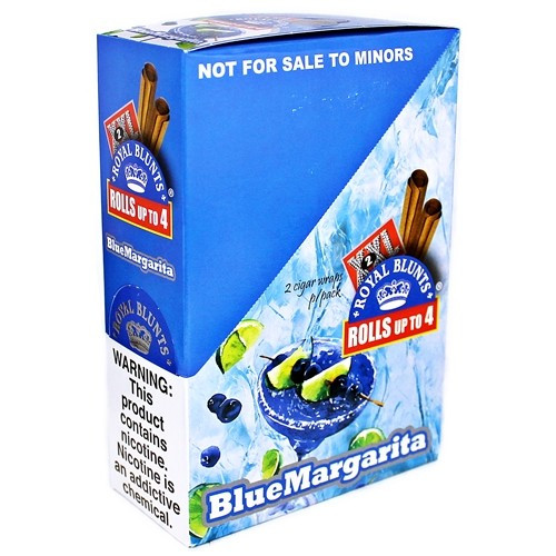 Xxl Royal Blunts K Series Cigar Wraps 2 Per Pack Blue Margarita Pack Of 25