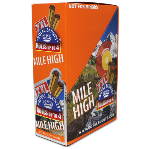 Xxl Royal Blunts K Series Cigar Wraps 2 Per Pack Mile High Citrus Orange Pack Of 25