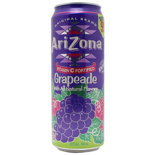 Stash Safe Can Arizona Grapeade 23 Fl Oz